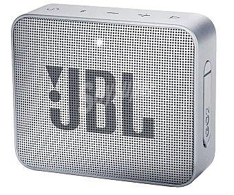 JBL Mini altavoz portátil Go2 gris. batería, conexión 3.5mm, Bluetooth, acuatico GO 2