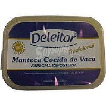 DELEITAR Manteca cocida de vaca Tarrina 200 g