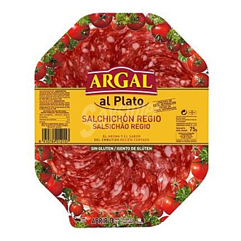 Argal Salchichón Regio en lonchas sin gluten 75 G 75 g
