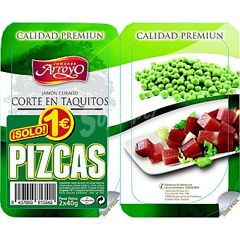 Arroyo Pizcas de jamón curado cortado en taquitos envase 80 g Pack 2 x 40 g