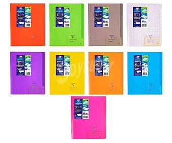 Clairefontaine Cuaderno A5 con cuadrícula de 4x4 milímetros, 48 hojas de con margen y tapas de polipropileno que sirven para forrar la libreta clairefontaine 90 gramos
