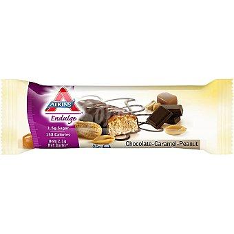 ATKINS ENDULGE Barrita de chocolate caramelo y cacahuete sin azúcar añadido con edulcorantes Envase 30 g