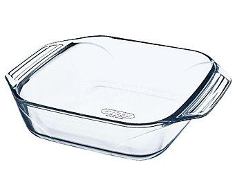 PYREX Fuente cuadrada fabricada en vidrio borosilicato, 29x29x23 centímetros, apta para horno, microondas y lavavajillas, modelo Optimum 1 unidad