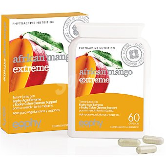 EOPHY mango africano extreme  envase 60 capsulas
