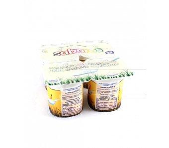 Celgan Yogur sabor Plátano 4 Unidades de 125 Gramos