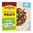 Tortillas de trigo para wraps Paquete 350 g (6 u) Old El Paso