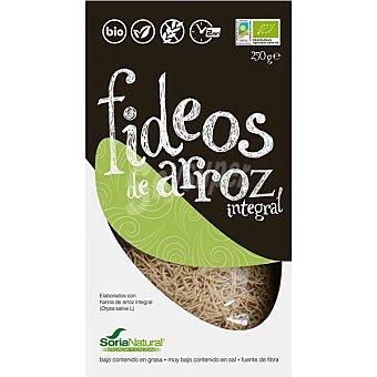 Soria Natural Bio fideos de arroz integral ecológicos y sin gluten paquete 250 g