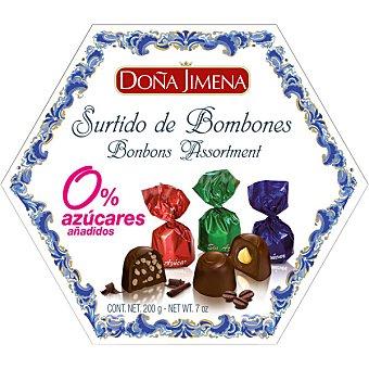 Doña Jimena bombones surtidos 0% azúcares añadidos estuche 200 g