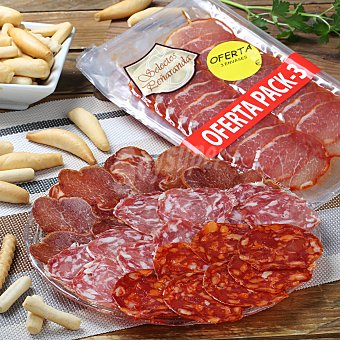 Tripack lomo, salchichón, chorizo ibérico 210