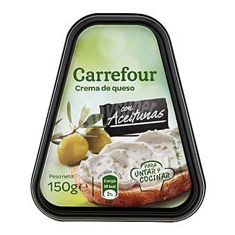 Carrefour Crema de queso con aceitunas 150 g