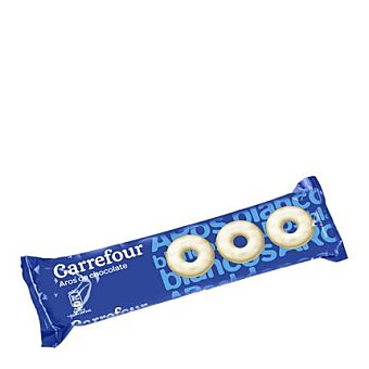 Carrefour Aros de chocolate blanco 150 g