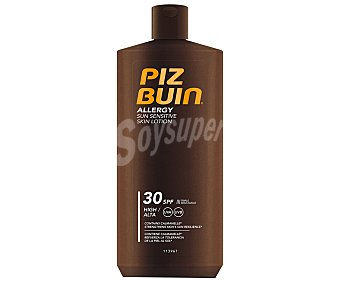 PIZ BUIN Allergy Loción solar con factor protección 30 (medio), especial pieles sensibles 400 ml