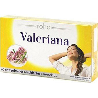 Roha Valeriana para combatir el nerviosismo y el insomnio caja 40 comprimidos 40 comprimidos