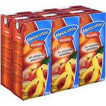 Ready Nectar melocoton sin azucar añadido Pack 6x200 ml