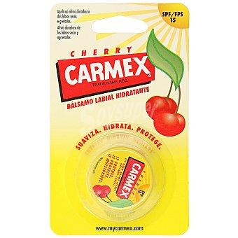 Carmex Bálsamo protector labial hidratante cherry spf 15 tarro 7,5 gr