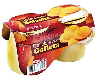 Auchan Postre lácteo de galletas 2 unidades de 135 gramos
