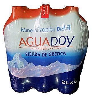Aguadoy Agua mineral natural (mineralizacion debil) Pack 6 x 2 l - 12 l