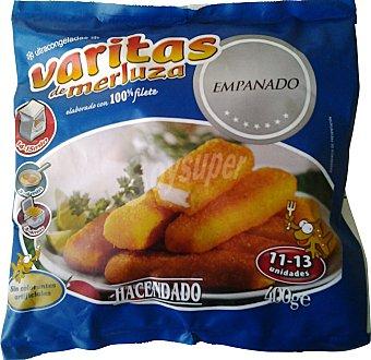 Hacendado Merluza congelada varitas (13-15 unidades) Paquete 400 g