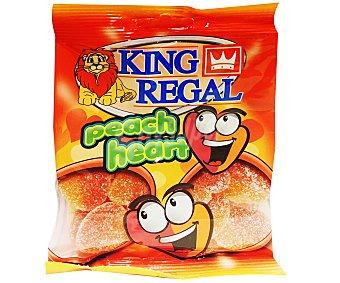 King Regal Corazones de Melocotón Bolsa de 100 Gramos