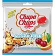 Caramelos duros de sabores surtidos sin azúcar Bolsa 6 unidades Chupa Chups