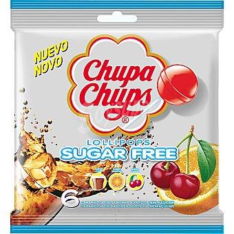 Chupa Chups Caramelos duros de sabores surtidos sin azúcar Bolsa 6 unidades
