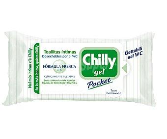 Chilly gel pocket toallitas higiene íntima fórmula fresca pH 5 Paquete de 12 unidades