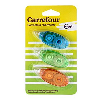 Carrefour Cinta correctora 2+1 mini 5mmX6m Cinta correctora 2+1 mini 5mmX6m 1 ud