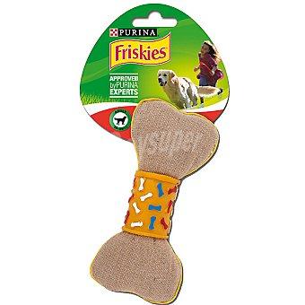 Purina Friskies Juguete de tela para perros adultos de de peso con forma de hueso  1 Unidad