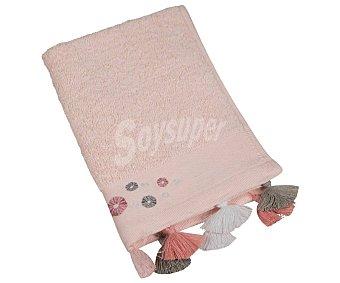 Actuel Toalla de tocador 100% algodón, /m² de densidad, color rosa claro con cenefa jacquard y flecos actuel 550 g
