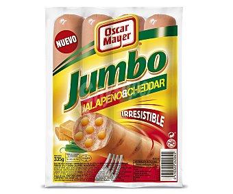 Oscar Mayer Salchichas jumbo jalapeño y cheddar 4 unidades (envase 335 g)