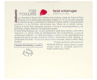 Babaria Crema facial antiarrugas Rosa Mosqueta 50 ml