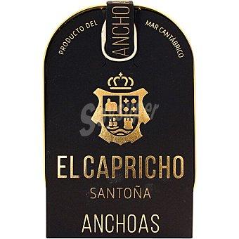 El Capricho Filetes de anchoa Santoña en aceite de oliva virgen extra 14/16 piezas Lata 58 g neto escurrido
