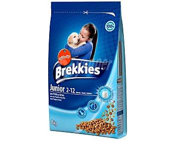 Brekkies Affinity Alimento Seco para Cachorros con calcio+vitaminas Saco de 8 Kilogramos