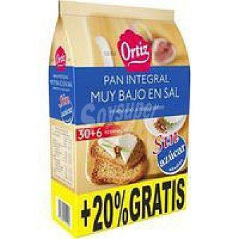 Ortiz Pan tostado integral Paquete 270 g + 20%