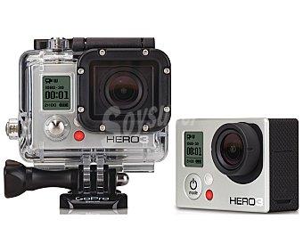 GO-PRO HERO 3+/WHITE Videocámara Deportiva de alta definición, resistente al agua, Wifi integrado, blanco