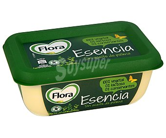 Flora esencia Tarrina de margarina de origen 100% vegetal, sin gluten, sin lactosa y sin conservantes 225 g