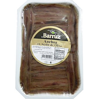 Barruz Anchoa en aceite de oliva Bandeja 125 g neto escurrido
