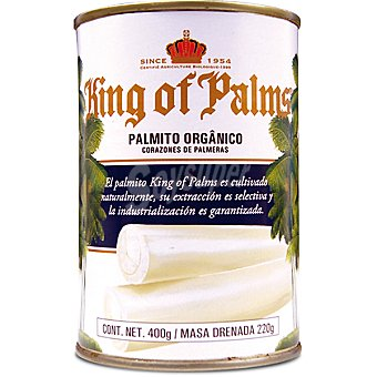 KING OF PALMS Palmito de Brasil Lata 220 g neto escurrido
