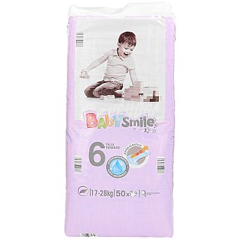 Baby Smile Pañales junior paquete 17-28 kgs 50 ud