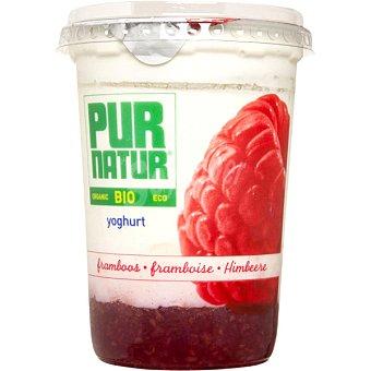 Pur Natur Yogur con una base de frambuesa ecológico Envase 500 g
