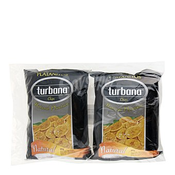 Turbana Platanitos natural Pack de 2x95 g