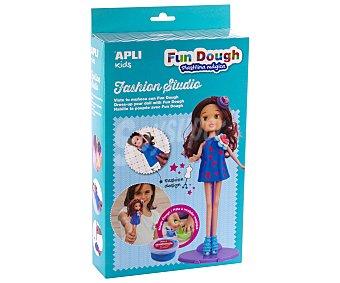 APLI Kit para crear un vestido para la muñeca morena que se suministra, a base de Foam Dough y Fun Dough APLI