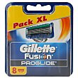 Recambio de maquinilla de afeitar Blíster 8 u Gillette Fusion Proglide