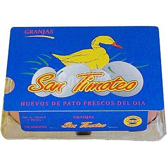TIMOTEO Huevos de pato estuche 6 unidades Estuche 6 unidades