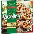 Italiana mini pizzas de calabacín y tomates marinados 9 unidades Estuche 270 g Buitoni Piccolinis