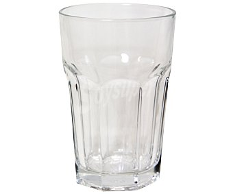 AUCHAN Vaso modelo Casablanca, con capacidad de 42,1 centilitros y fabricado en cristal 1 Unidad