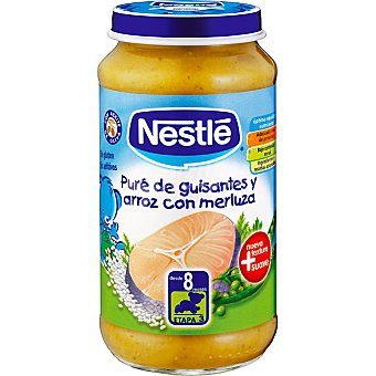 Nestlé Tarrito puré de guisantes y arroz con merluza Envase 250 g