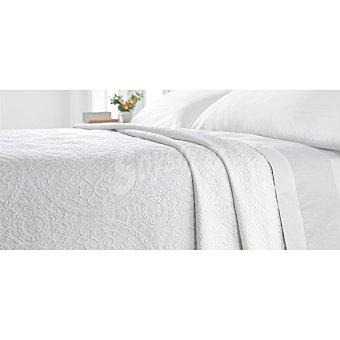 CASACTUAL Colcha jacquard en color blanco para cama 150 cm 1 unidad