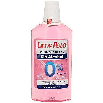 Licor del Polo Enjuague bucal antiplaca 0% alcohol con flúor y aloe vera  Frasco 500 ml