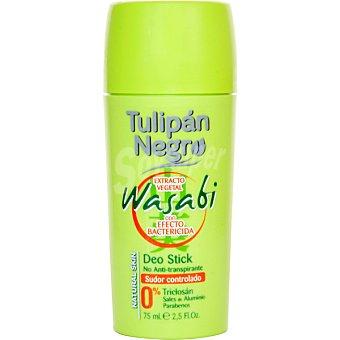 Tulipan Negro Desodorante Wasabi extracto vegetal con efecto bactericida en stick Envase 50 ml